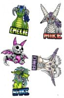 some badges i guess XD by emzzpemzz