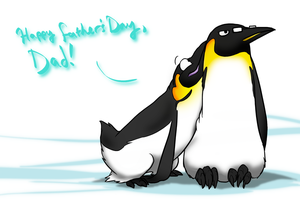 Happy Father's Day Penguins by Zerochan923600