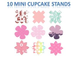 10 mini cupcake stands by YuikoHeartless