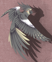 The flying cockatiel by NairaSanches