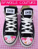 WHIPPED CREAM CANDY SWEETS CONVERSE ALL STARS by KAWAIIBOUTIQUE