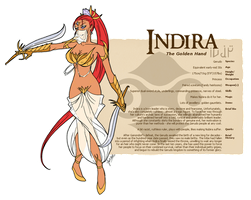 Character Guide - Indira by foxlee