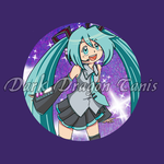 Miku button badge. last day to order by DarkDragonTanis
