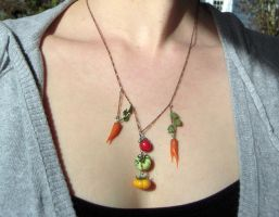 Veggie Necklace by lily-inabottle