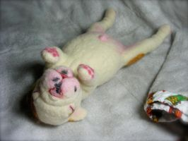 SOLD NeedleFelted Life Size Newborn EnglishBulldog by CVDart1990