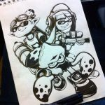 Splatoon Ink Drawing by Primogenitor34