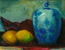 Still Life with Lemons by sandreezy
