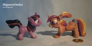 Cadence and Twilight - Sculpture by HipsterOwlet