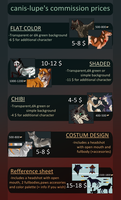 [OPEN] Commission Pricelist 2017 by canis-lupe