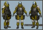 Chemical Soldier Color Test (WIP) by GJael