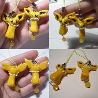 Jolteon Dangly Bead Charm by ChibiSilverWings