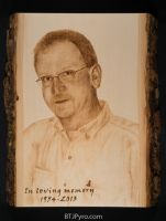Memorial Portrait - Woodburning by brandojones