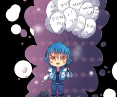 -- DMMD Gif : Aoba with balloons -- by Kurama-chan
