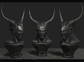 the devil sculpt by Zbrush-Hero