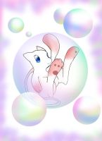 Mew in a Bubble by raizy