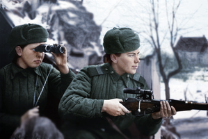 Soviet Snipers .:colorized historical photo:. by WinterJackal