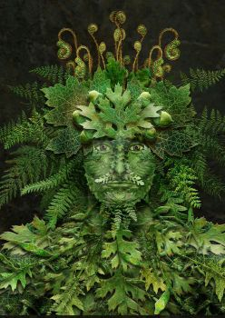 Greenman And Woman by Maxinesimaginarium