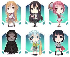 CHIBI Sword Art Online by Xunq