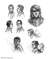 Sketchdump (Dishonored) by AkagenoSaru