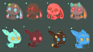 Animal Adopts: Candy Zombie Bunnies .:Closed:. by Pieology