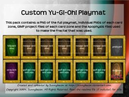 Yu-Gi-Oh Custom Playmat by sunnybacon