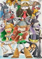 Rayman Legends Princesses by SoulEaterSaku90