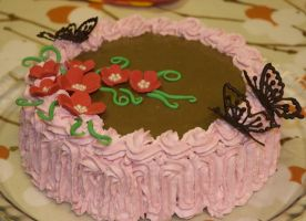 Chocolate Butterfly Cake by YellowDaw