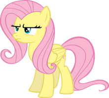 Fluttershy Is Not Amused - Vector by TheSharp0ne