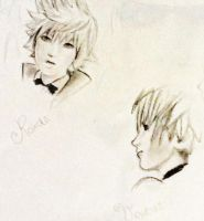 Roxas and Ventus sketch by Cate397