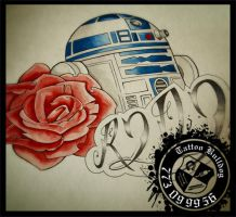 star wars r2d2 Tattoo Bulldog ART by TattooBulldog