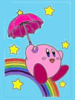 Kirby's Umbrella by Fiery-Florals