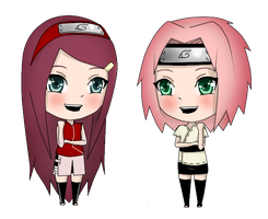 Kushina and Sakura by LollyLov3