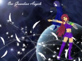 Guardian Angels - Raven and Starfire by UberPaladin