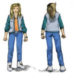 12 years old Ryoko with casual clothes colored by LaYoosh