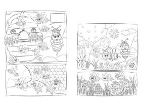Bee Story for colour by sherif-designer
