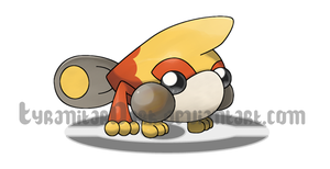 Fire Frog Fakemon by TyranitarDark