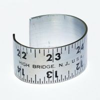 Found Object Jewelry Ruler Bracelet by Tanith-Rohe