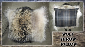 Wolf Fur Throw Pillow by sugarpoultry