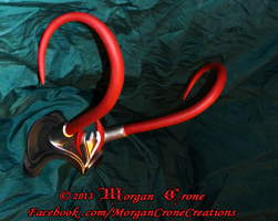 Black, Red and Silver Horned Diadem View #9 by MorganCrone