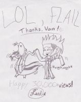 30 K FLAIL ::Collab:: by 2Foxxie4U