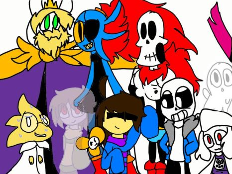 undertale  group picture  by EmlzT33