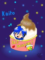 Kaito and his ice scream 8D by linkinounet62