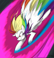 Super Rainbow Dash by JohnJoseco (colored) by Klonoa-Rainbow-Dash