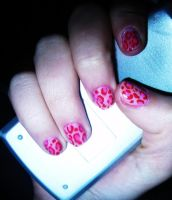 Leopard Nails by maga-a7x
