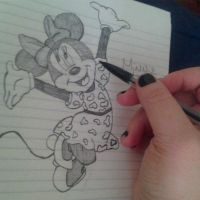 Minnie Mouse by CrystalSketches