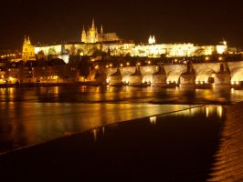 Prague at Night by amipal