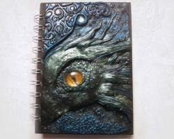 Polymer clay sea dragon journal or notebook by designsbyjo