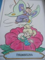 Thumbelina and a Butterfly by Brittany-Psalm28-7