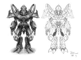 Protoss Zealot by AncientSources