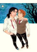 Moony and Padfoot by ChocolateIsForever